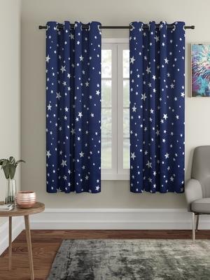 Blackout Glow in Dark Window Set of 2 Navy Blue