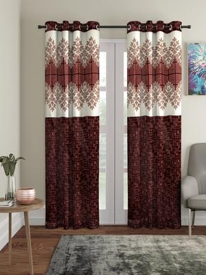 Panel Brown Door Curtain Set of 2