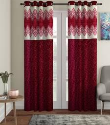 Panel Maroon Long Door Curtain Set of 2