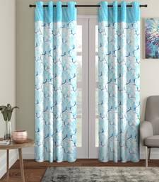 Penited Long Door Sky Blue Set of 2 Curtain