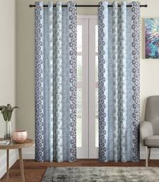 Penited Long Door Grey Set of 2 Curtain