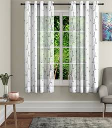 Share Embroidery White Polyester Window Set of 2