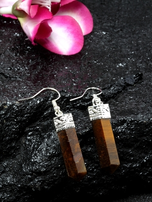 Brown crystal danglers-drops
