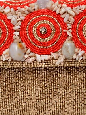 Beige coral designer-jewellery