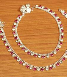 Pink Zircon       Anklets