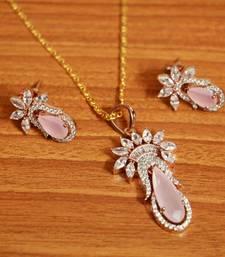 Pink Cubic Zirconia Pendants