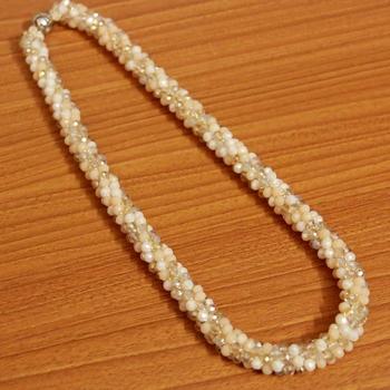 Beige Swarovski Crystal Necklaces