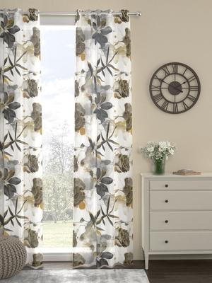 ROSARA HOME Voile Digital Print Pack of Single Curtain