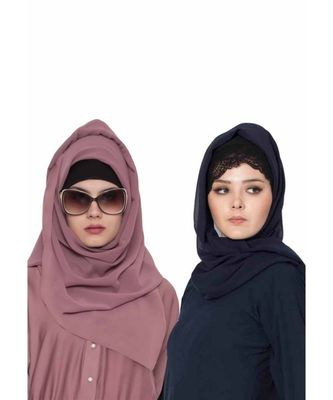 Set Of Two Stole Hijabs in Soft and Super Fine Georgette