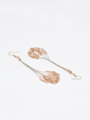 Brown crystal danglers-drops