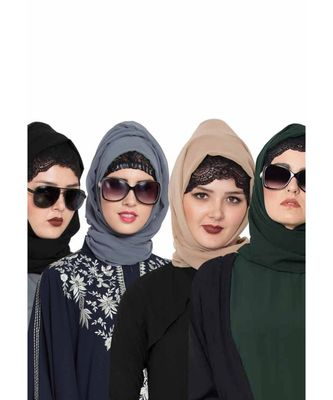 Set Of Four Stole Hijabs in Soft and Super Fine Georgette
