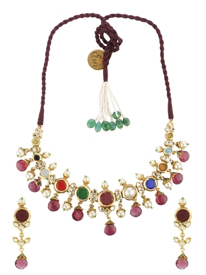 Red faux ruby jewellery-combo