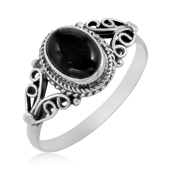 Black Onyx 925 Sterling Silver Rings