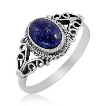 Blue Lapis Lazuli 925 Sterling Silver Rings