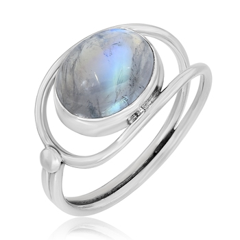 Multicolor Moonstone 925 Sterling Silver Rings