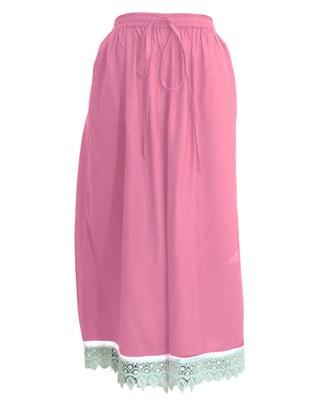 Baby-pink plain viscose palazzo-pants