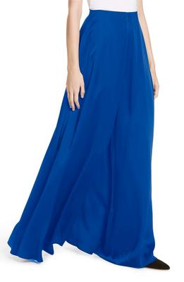 Turquoise plain viscose palazzo-pants