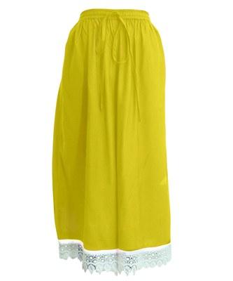 Yellow plain viscose palazzo-pants