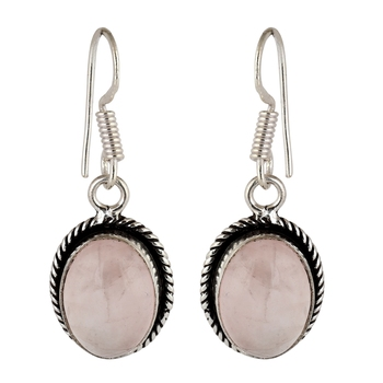 Pink quartz  earrings