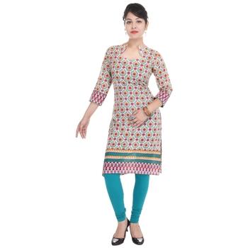 Women multicolor Printed Straight Kurta