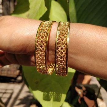 Traditional Gold Plated  Bracelet Bangle Set of 2