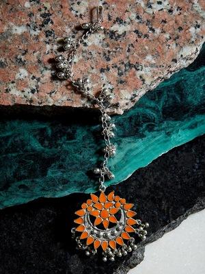 Orange Maang-Tikka