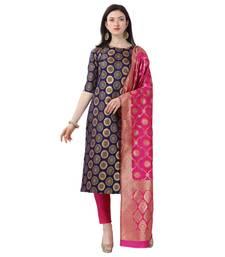 Elora Cotton Jacquard Unstitched Woven Salwar Suit Dress Material for Women