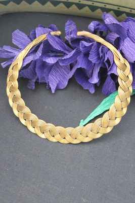 Gold Tone Silver Plated Choker Necklace