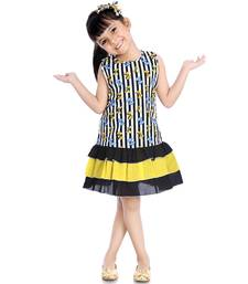 Cotton Frock With Frill Black