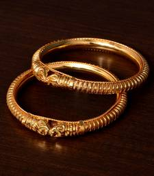 Gold Plated Temple Look Bangles BD425