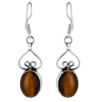 brown quartzearrings