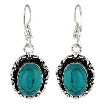 Turquoise turquoise earrings