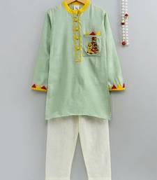 Chanderi Silk Embroidered Kurta With Applique Work
