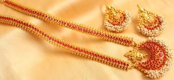 Beautiful Antique Kemp Ganesha Haar Set