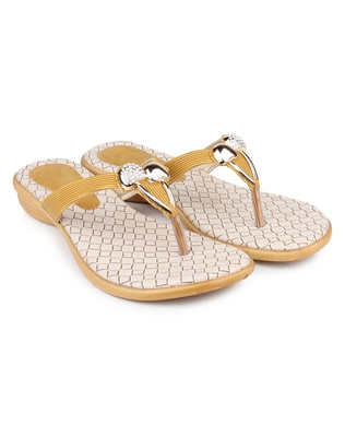 Yellow synthetic Beautiful and comfortable flats