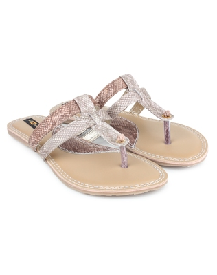 Copper synthetic Beautiful and comfortable flats