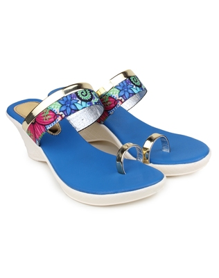 Blue synthetic Beautiful and comfortable heels