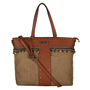 Esbeda Brown Color BIG Size Jute tote-bags For Women