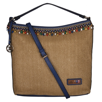 Esbeda Blue Color BIG Size Jute tote-bags For Women