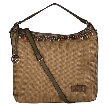 Esbeda Green Color BIG Size Jute tote-bags For Women