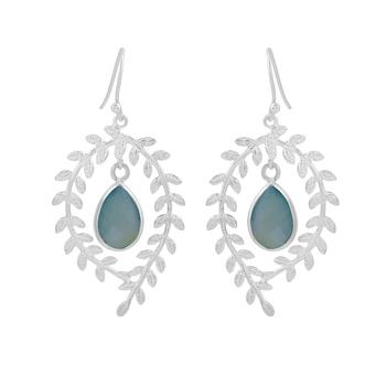 Blue chalcedony 925-sterling-silver-earrings