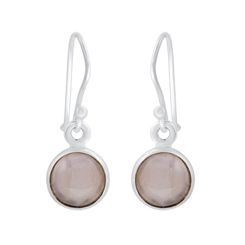 Pink Quartz   925 Sterling Silver Earrings