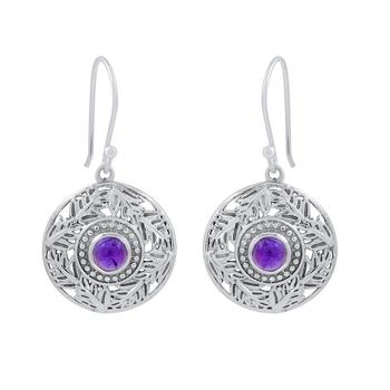 Purple amethyst 925-sterling-silver-earrings