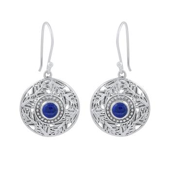 Blue Lapis Lazuli 925 Sterling Silver Earrings