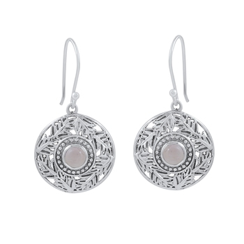Pink quartz 925-sterling-silver-earrings