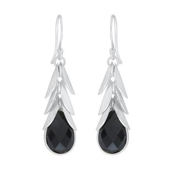 Black onyx 925-sterling-silver-earrings