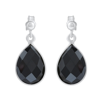 Black onyx 925-sterling-silver-earrings