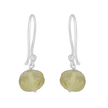 Yellow citrine 925-sterling-silver-earrings