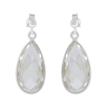 White crystal 925-sterling-silver-earrings