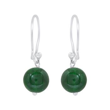 Green onyx 925-sterling-silver-earrings